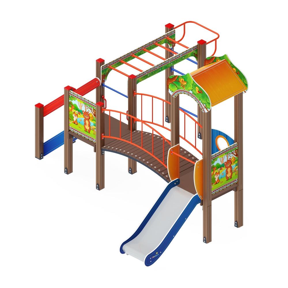 Детский игровой комплекс «Полянка» ДИК 1.16.06 H=750 (ДИК 1606)