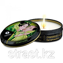 Массажное аромамасло свеча SHUNGA Exotic Green Tea (Зелёный чай) 30 мл