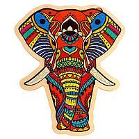 Фигурный пазл в рамке 'Индийский слон' деталей. 5+