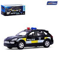 Машина металлическая 'Полицейский джип', инерционная, свет и звук, масштаб 143