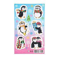 Наклейки 'Новогодние' пингвины, снежинки (комплект из 20 шт.)