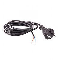 Шнур электрический соединительный, для настольной лампы, 2,2 м, 120 Вт, черный, тип V-1 Россия Сибртех