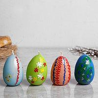 Свеча пасхальная 'Яйцо разноцветное' малое, с деколью, разноцветная, микс