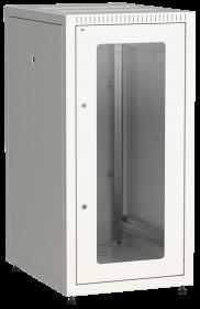 Шкаф LINEA E 18U 600х800мм стеклянная передняя дверь задняя металлическая серый
