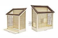 "Клетка для птиц ""Ретро-Кантри золото"" разборная, крепеж для стен, массив дерева"
