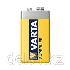 Батарейка, VARTA, 6F22P Superlife, E-Block 9V, 1 шт., в пленке