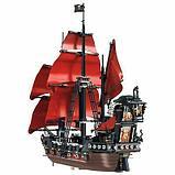 Конструктор  аналог лего Lego Pirates 4195 Пираты Карибского моря 6001 Месть Королевы Анны 1207 дет, фото 3