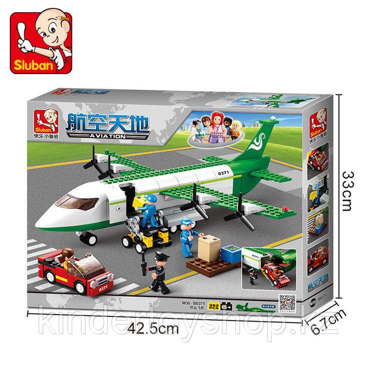 Конструктор Sluban Авиация 0371: грузовой самолет 383 деталей аналог лего Lego City Аэропорт