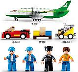 Конструктор Sluban Авиация 0371: грузовой самолет 383 деталей аналог лего Lego City Аэропорт, фото 3