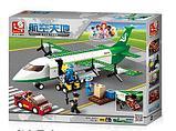 Конструктор Sluban Авиация 0371: грузовой самолет 383 деталей аналог лего Lego City Аэропорт, фото 6