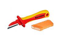 Диэлектрический, прямой нож электрика Kraftool KN-1 45401