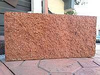 Плитка рваная 390х190х60 мм Красный вибролитая, фото 1