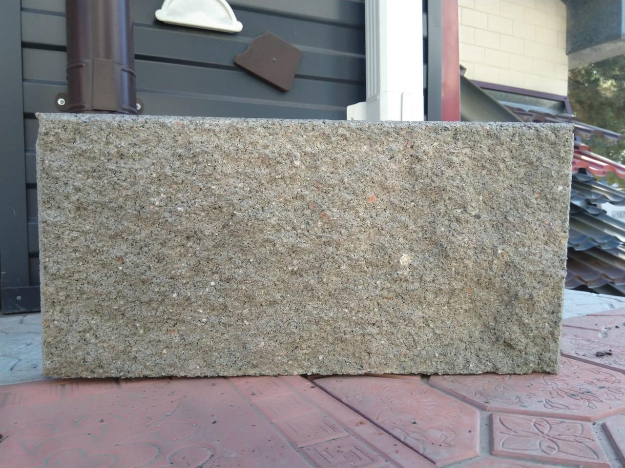 Плитка рваная 390х190х60 мм Серый вибролитая