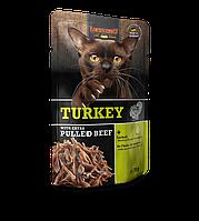 Leonardo Tyrkey Extra Pulled Beef паштет из индейки с тушеной говядиной в мясном бульоне