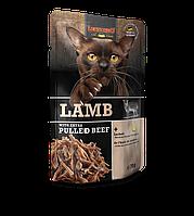 Leonardo Lamb Extra Pulled Beef паштет из баранины с тушеной говядиной в мясном бульоне