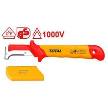 Изолированный демонтажный нож 185мм,1000V TOTAL арт.THIDCK1851