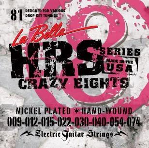 Струны для 8 струнной электрогитары La Bella HRS-81