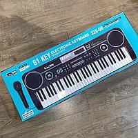Детский большой синтезатор с микрофоном 61 клавиша 328-06