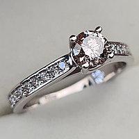 Золотое кольцо с бриллиантами 0.66Сt VVS2/N VG-Cut, фото 1