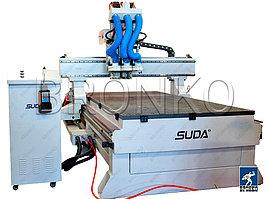 Suda MG-1630C. Многошпиндельный фрезерный станок с чпу по дереву