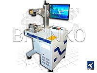 BCJ 20W. Оптоволоконный лазерный гравер (маркировщик) с устройством вращения для маркировки на цилиндрических