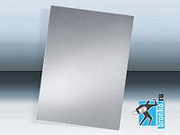 Метал. заготовка таблички серебро для сублимации А4