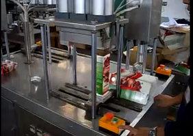 Полуавтоматическая линия для фасовки и упаковки жидких и пастообразных продуктов
