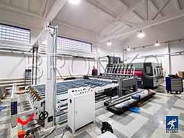 Автоматический 2-х цветный флексо-принтер слоттер ротор (2 цвета) ZYKM-1425 с подачей по переднему краю