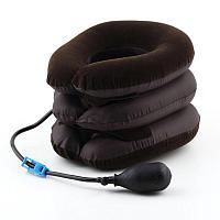 Вытягивающая ортопедическая подушка тройная надувной шейный воротник Carvical Neck с доставкой