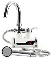 Проточный электрический кран водонагреватель с душем Instant Electric Heating Water Faucet & Shower