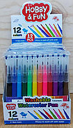 886-1 Watercolor pen 12pcs фломастеры для ручки аэрографии , цена за 1 пачку (12шт), фото 3