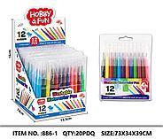 886-1 Watercolor pen 12pcs фломастеры для ручки аэрографии , цена за 1 пачку (12шт), фото 2