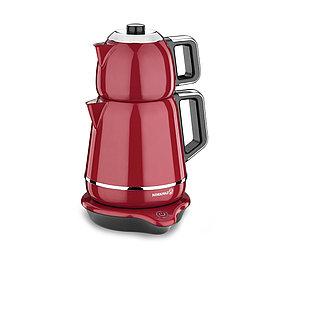 Турецкий электрический чайник/самовар Korkmaz Red/Chrome 1,1 л, и 1,7 л