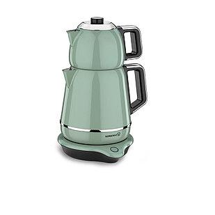 Турецкий электрический чайник/самовар Korkmaz Turkuaz/Chrome 1,1 л, и 1,7 л