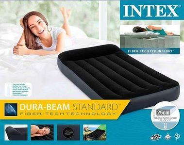 Матрас надувной с подголовником INTEX Pillow Rest Classic Airbed (64141, 99х191х25 см)