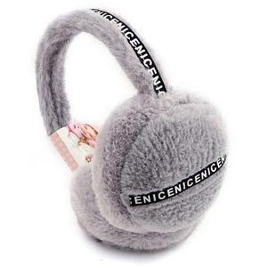 Меховые наушники теплые для взрослых и подростков Nice-Nice (Серый)