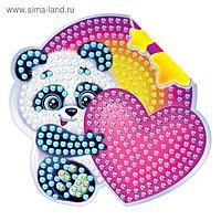 Алмазная вышивка наклейка для детей «Мишка», 10 х 10 см. Набор для творчества