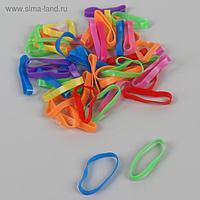 Набор парикмахерских резинок для создания прически, d = 2,5 см, 50 шт, цвет разноцветный