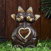 Интерьерный сувенир 'Любящие кошки' 25 см