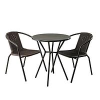 Комплект мебели Асоль-5 LRC01/LRT01-D60 Dark Brown (2+1) (имитация ротанга)