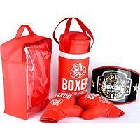 Боксёрский набор: груша, пояс, перчатки