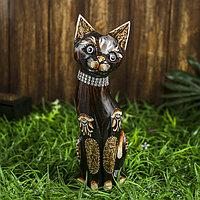 Интерьерный сувенир 'Кошка с ошейником' 30 см