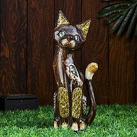 Интерьерный сувенир 'Кошка с совой' 30 см