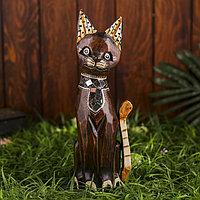 Интерьерный сувенир 'Кошка с блестящим галстуком' 30 см