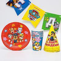 """Набор бумажной посуды """"С днем рождения!"""" , на 6 персон"""