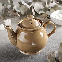 Чайник «Акварель», 400 мл, цвет золотисто-коричневый