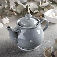 Чайник «Акварель», 400 мл, цвет светло-серый