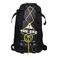Рюкзак молодежный Calligrata с мягкой спинкой 41х24х16 см на шнурках The end, цвет чёрный