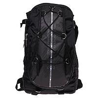 Рюкзак молодежный Calligrata с мягкой спинкой 41х24х16 см на шнурках Nothing, цвет чёрный