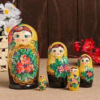 "Матрёшка ""Золотые лепестки"" жёлтая, 5 кукольная"